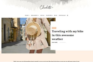 Charlotte - Responsive Beauty Blogger Template