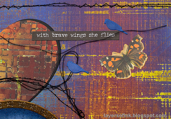 Layers of ink - Inky Bird Art Journal Page by Anna-Karin Evaldsson.