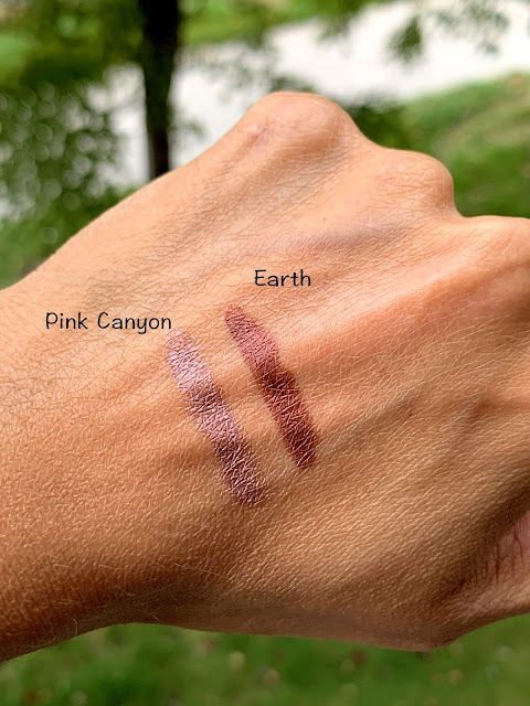 Make Up For Ever Aqua Resist Smokey Shadow | Pink Canyon, Earth Review, photos, Swatches