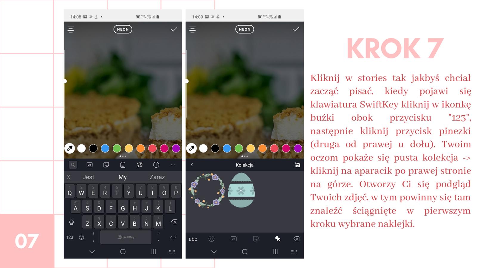 8 darmowe naklejki na instastories kwiaty wielkanoc jak zrobić swoją naklejkę na stories instagram jak wstawiać naklejki na instastory klawiatura swiftkey instrukcja krok po kroku