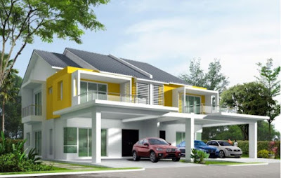 double storey house exterior front design