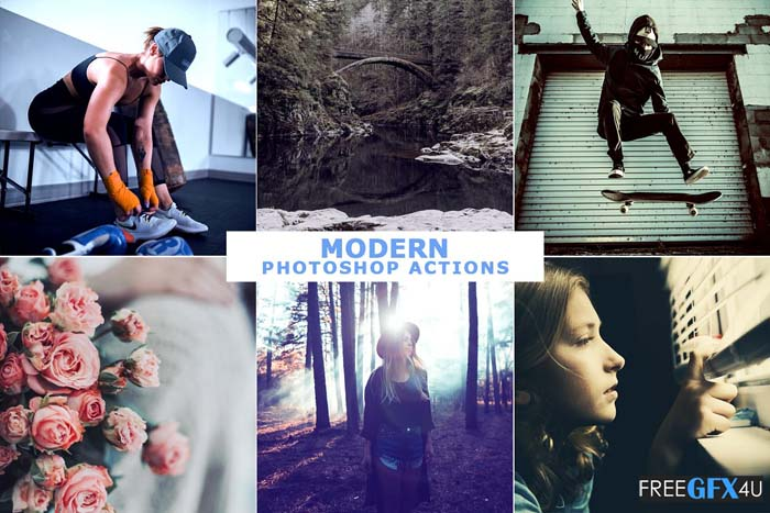 40 Modern Photoshop Actions