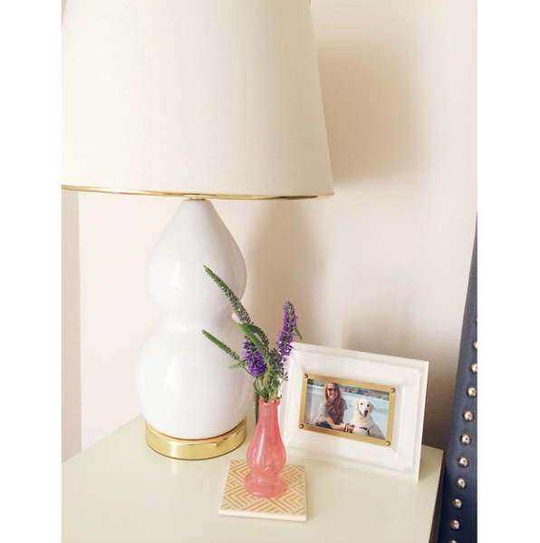 nightstand, lamp, bedside table, bedroom