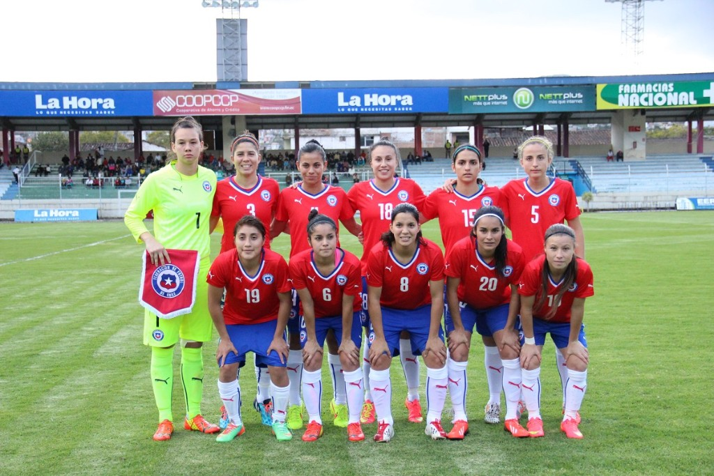 Formación de selección de Chile ante Argentina, Copa América Femenina 2014, 12 de septiembre