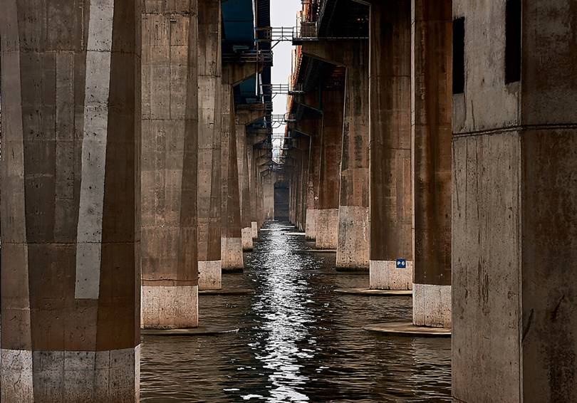 Seoul Bridges on Han River | Almost like optical illusions
