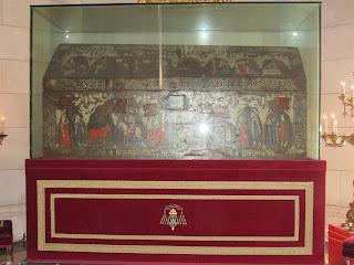 Sárcofago de San Isidro Labrador en la Catedral de la Almudena