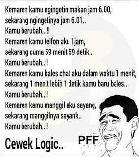 dp bbm cewek logic