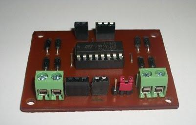 Kit circuito puente H detalle de controles laterales..