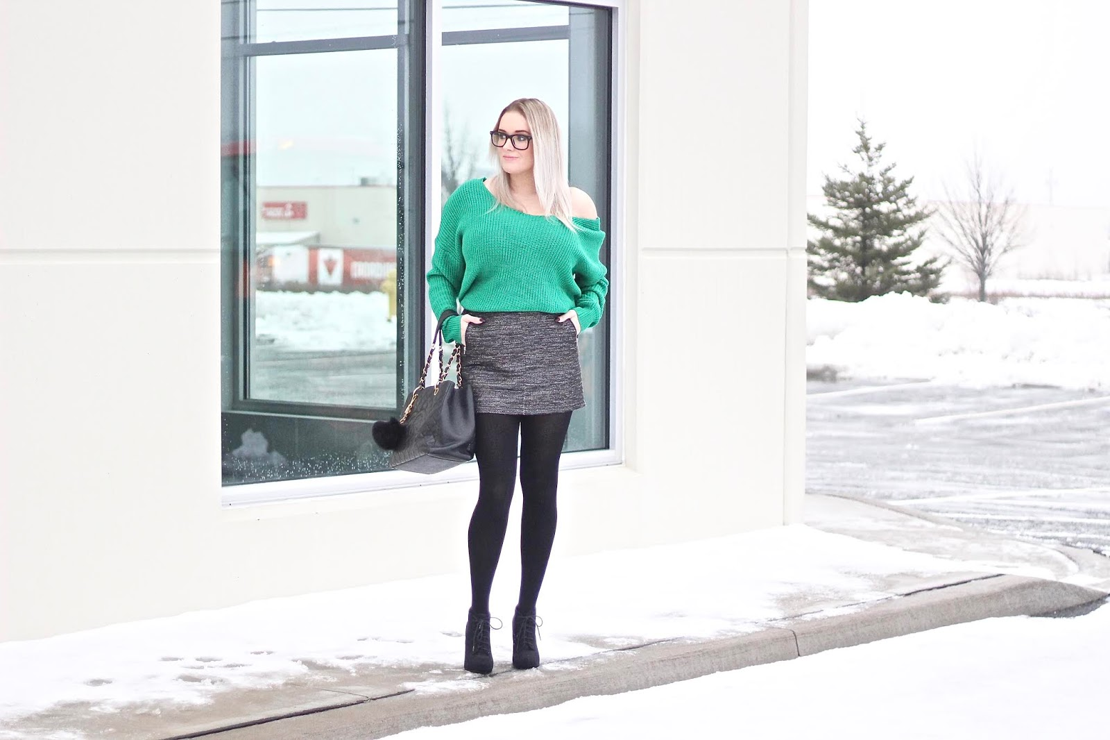 Green Twist Back Sweater