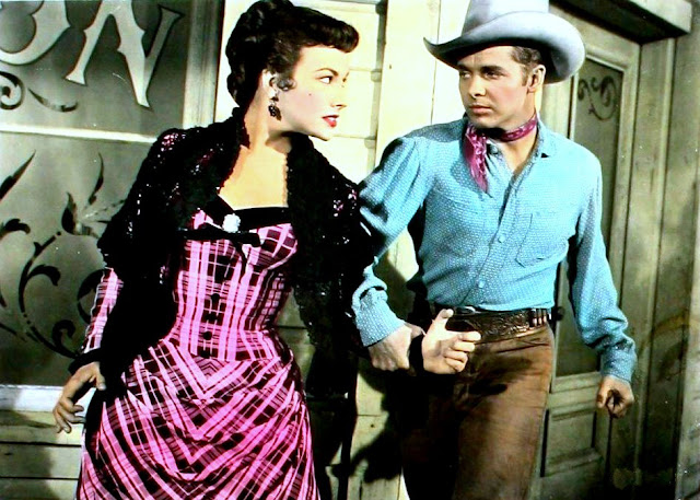 1954. Mara Corday, Audie Murphy - Drums across the river