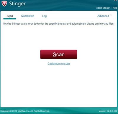 تحميل برنامج McAfee Stinger لمكافحة الفيروسات 2018 برابط مباشر