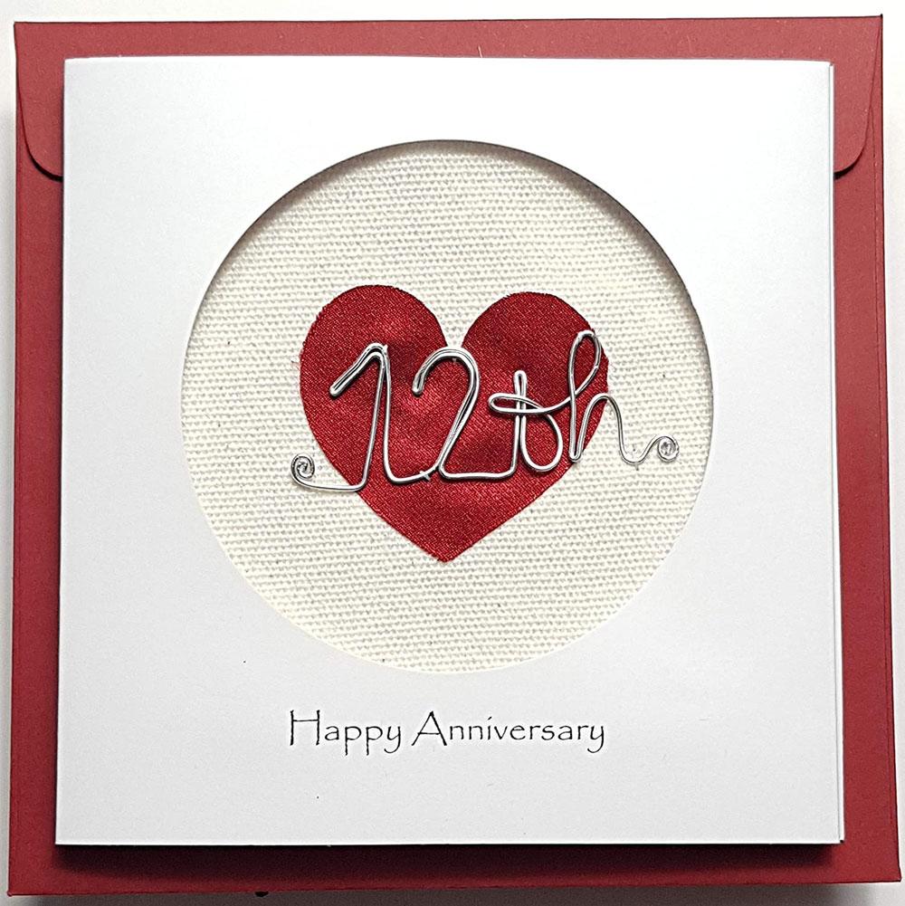 silk anniversary card