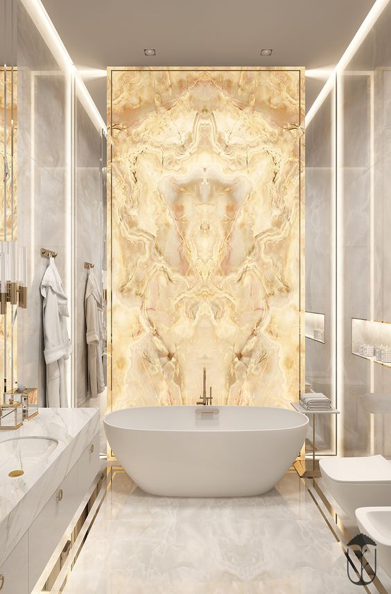 luxury bathroom interior design idea