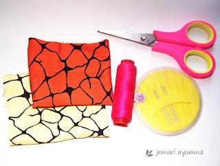 Bahan membuat pita dari kain perca
