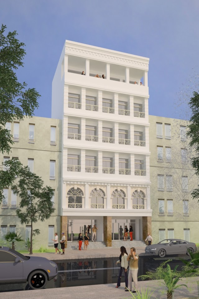 Phương án thiết kế cải tạo khách sạn phong cách cổ điển tại thành phố Hồ Chí Minh.