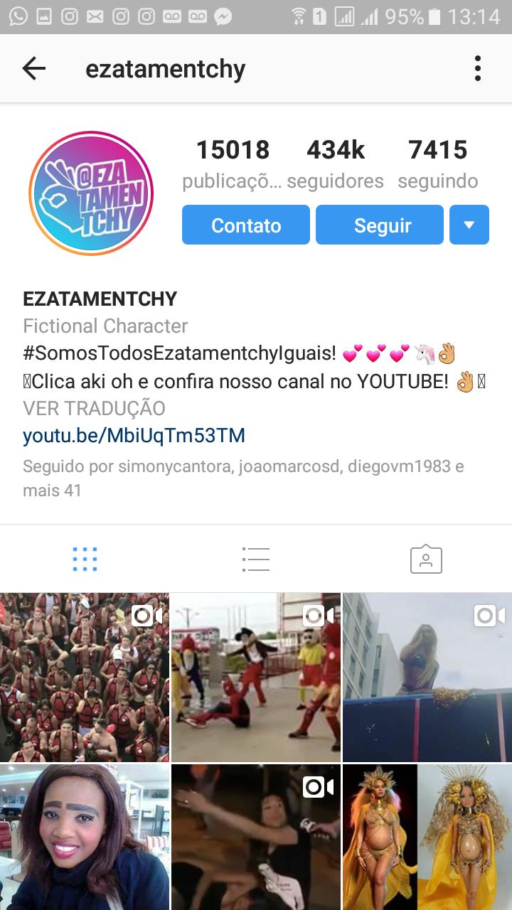 Aqui o perfil fashionbombday com mais de 1 milh o de seguidores