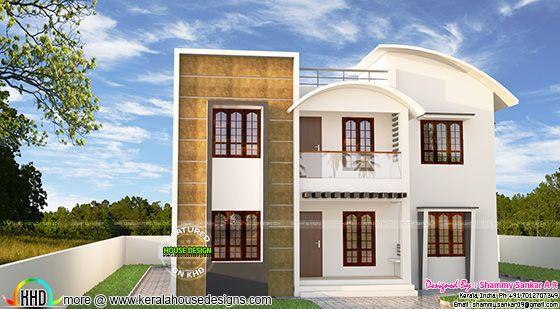 Modern house plan by Shammy Sankar A R