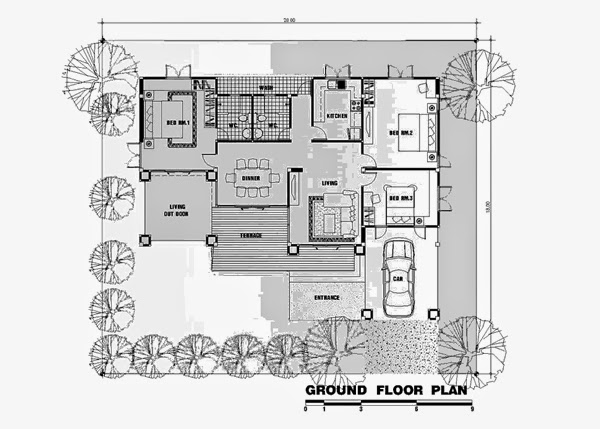 Tropical One Story Design Ideas Tropical Style House 3