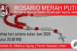 Jadwal Doa Rosario Merah Putih di Keuskupan Agung Jakarta