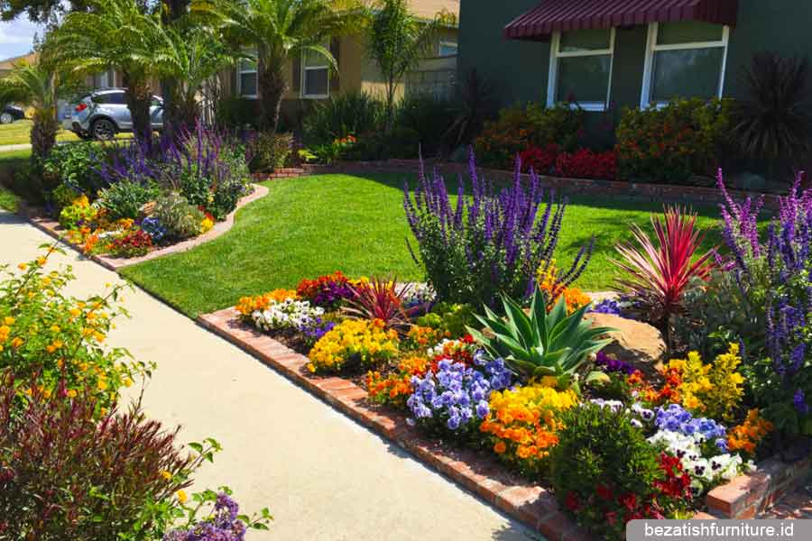 Cara mudah membuat taman depan rumah minimalis