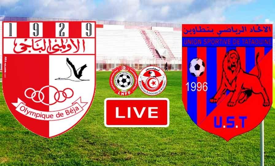 Match Olympique Béja vs US Tataouine Live Stream