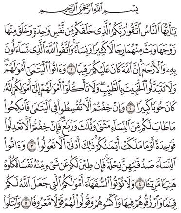 Tafsir Surat An-Nisa Ayat 1, 2, 3, 4, 5