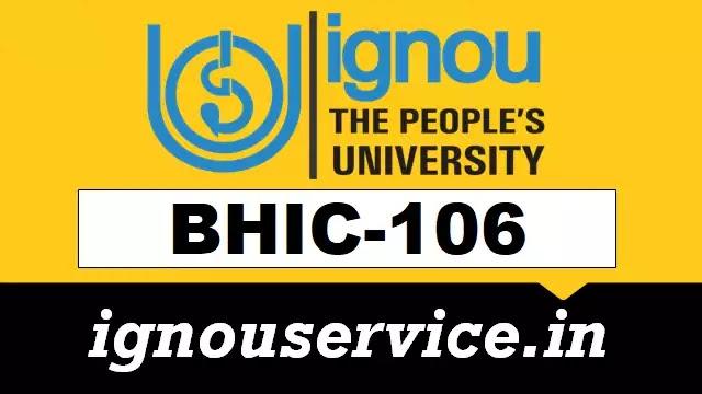 BHIC-106 Solved Assignment English Medium (January 2021)