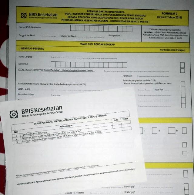 formulir daftar isian peserta PBPU