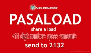 ABS CBN Mobile Pasaload or Share a Load to another Mobile Number