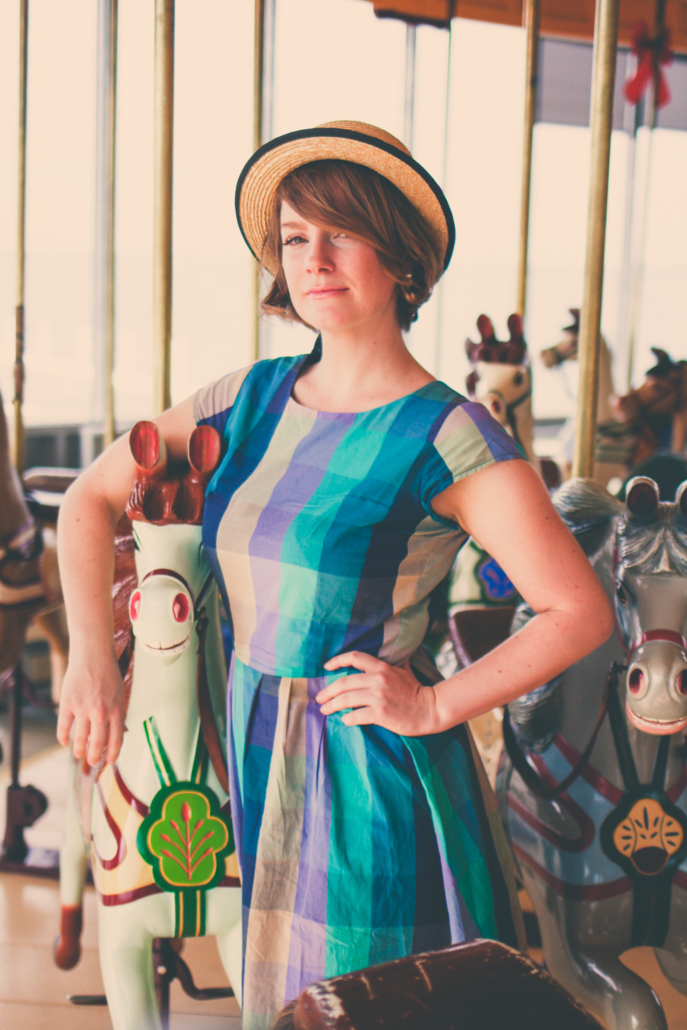 @findingfemme in Shabby Apply check dress on carousel in Geelong