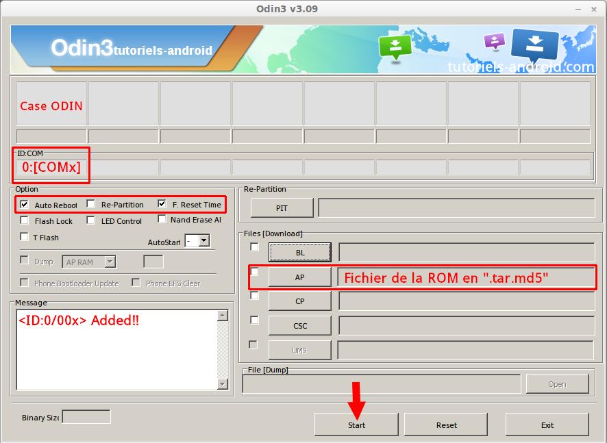 Installer N9005XXUEND3 avec Odin