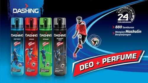 DASHING Deo + Perfume Body Spray ; Wangian Maskulin Sejati