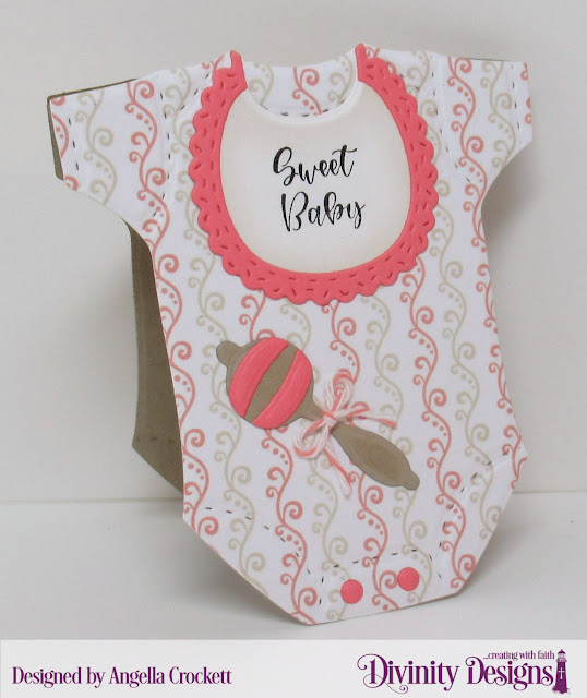 Divinity Designs Sweet Baby, Baby Blessings Dies, Baby Girl Paper Pad, Card Designer Angie Crockett