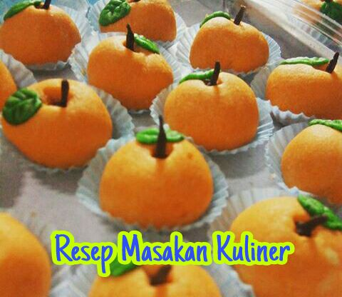 Nastar bentuk jeruk, resep nastar bentuk jeruk, cara membuat nastar bentuk jeruk,