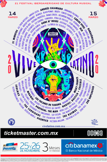 artistas vive latino 2020