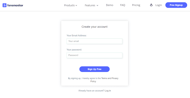 fonemonitor sign up