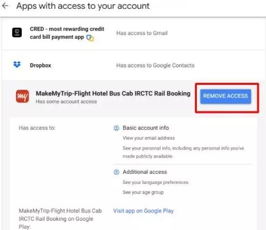 Menghapus Akses Aplikasi Pihak Ketiga di Google dan Facebook-4