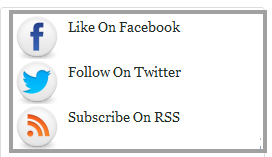 Social Media Widget For Blogger