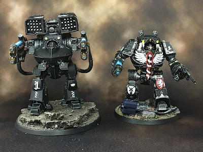 Horus Heresy Dark Angels Deredeo and Contemptor Dreadnoughts