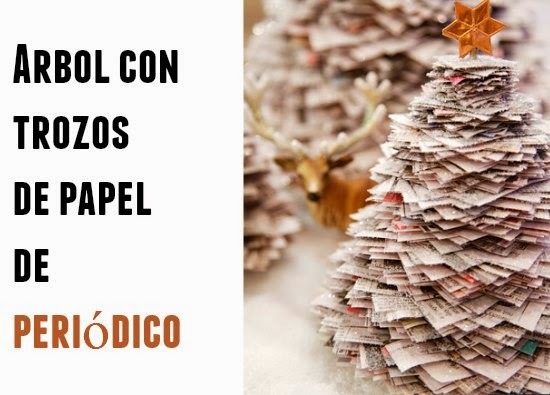 Como hacer un arbol de navidad con papel de periodico - Arboles de navidad de papel ...