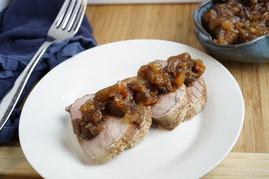 Spiced Pork Loin With Apple Chutney
