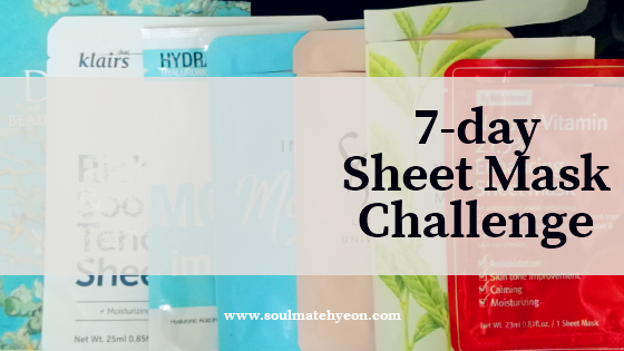 [Monthly Project] #25 7-Day Sheet Mask Challenge (feat. Jayeon, B.Liv, Da Mior, By Wishtrend, The Saem, Klairs)