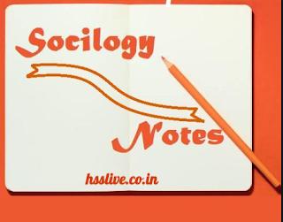 HSSLIVE Plus Two Sociology Notes