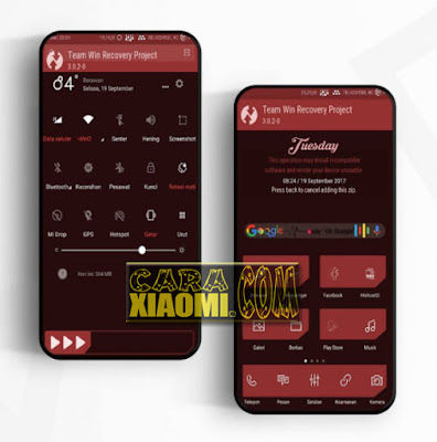 Link Download Thema Xiaomi TWRP Mod Red Light Mtz