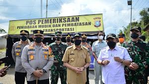 Tinjau Pos Penyekatan Mudik, Gubri: Larangan Mudik di Perbatasan Sumbar-Riau Berjalan Lancar