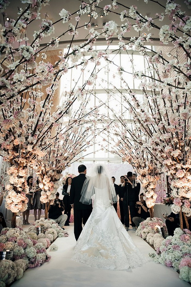 Gorgeous wedding ceremonies belle the magazine your wedding ceremony decor these wedding ceremony ideas will inspire you to tie the knot with style and create a celebration worthy of a photo shoot junglespirit Image collections
