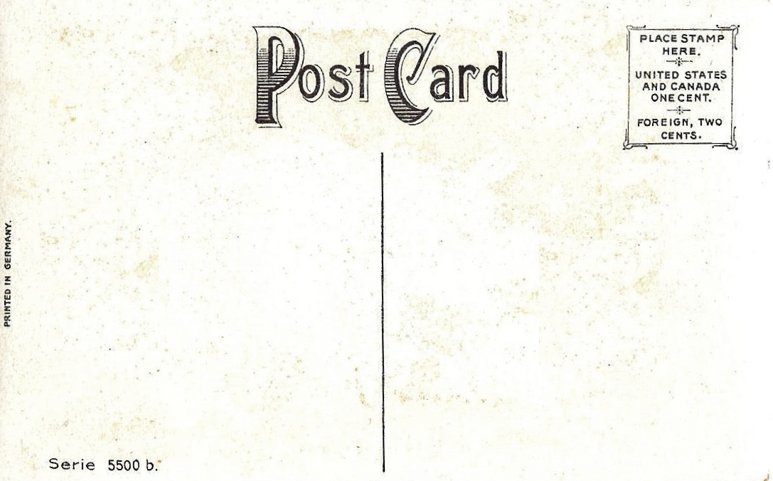 Free Prinrable Antique Postcards - The Back Sides