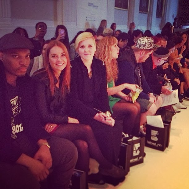 Front row picture at london fashion week