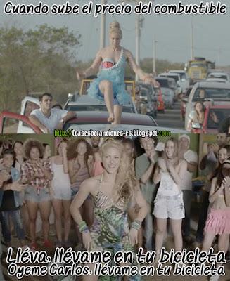 Meme de Humor : Shakira - La Bicicleta