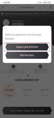 cara menjadi member VIP dari Aplikasi News Cat